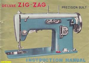 Deluxe Zigzag Sewing Machine Instruction Manual