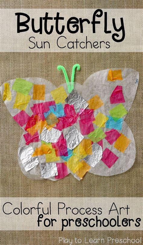butterfly sun catchers spring art projects preschool