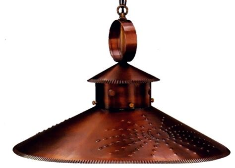 country kitchen pendant style hanging copper light by