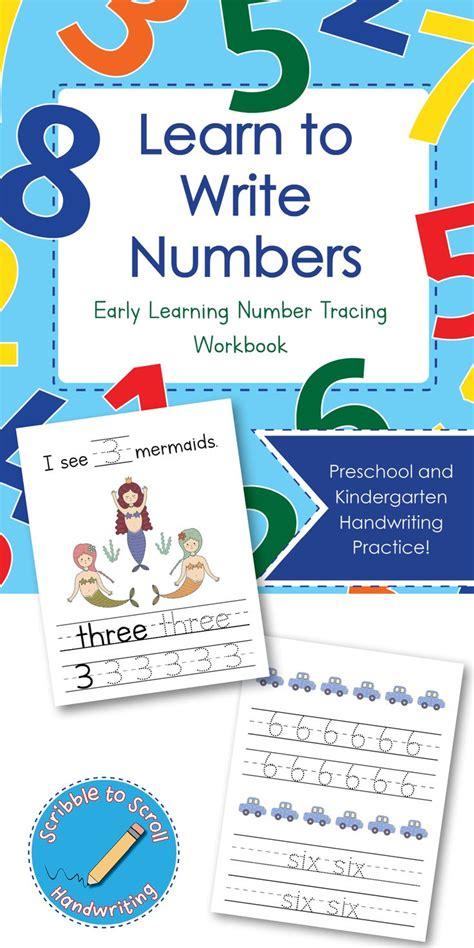 inexpensive number tracing workbook  preschool