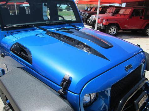 jeep hood 07 18 black mountain jeep jk wrangler cowl hood w vents