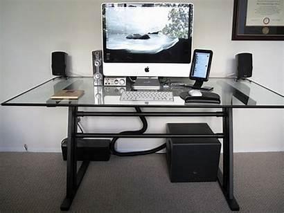 Desk Computer Office Modern Stylish Glass Area