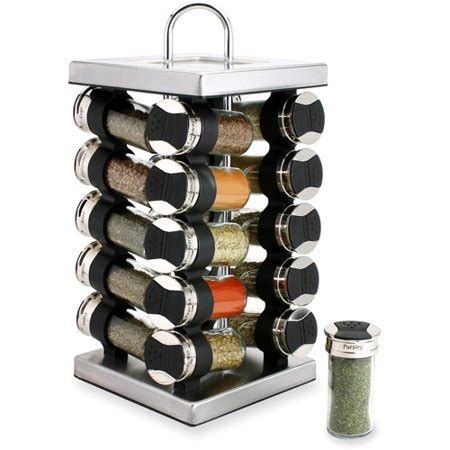 Thompson Spice Rack by Olde Thompson Stainless Steel 20 Jar Revolving Spice Rack