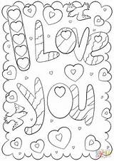 Coloring Card Pages Printable Doodle Mom Valentine Cards Colouring Template Valentines St Supercoloring Word Drawing Templates sketch template