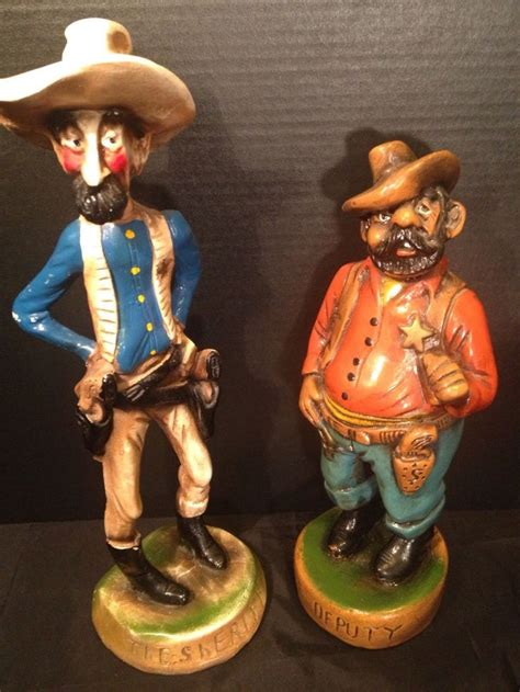 eb orman  borman  vintage sheriff deputy figurines
