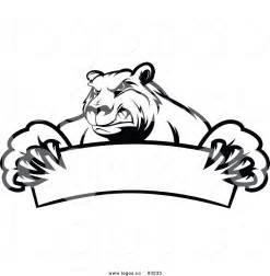 Black and White Vector Bears Logo