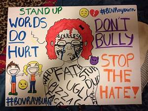 Anti-bullying posters by Hailey D. | henry darragh's blog