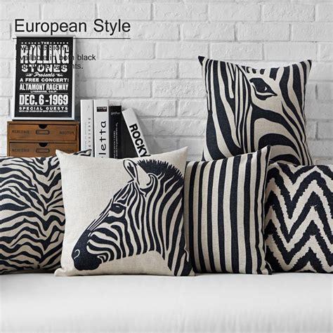 taie coussin canapé aliexpress com acheter moderne noir blanc zèbre oreiller