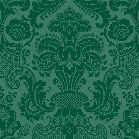 Petrouchka Green Wallpaper  Cole & Son Mariinksy