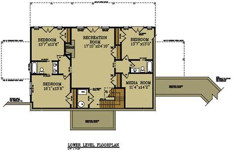story  bedroom house plan  detatched garage