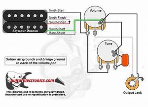 Guitar Wiring Diagram 1 Humbucker 1 Volume 1 Tone