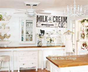 junk chic cottage french farmhouse faux brick wall With best brand of paint for kitchen cabinets with farmhouse decor wall art