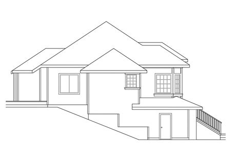 sloping lot house plans modern house plans for narrow sloping lots