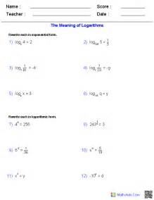 Expanding Logarithms Worksheet Algebra 2 Worksheets Exponential And Logarithmic Functions Worksheets