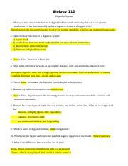 digestive system worksheet answers biology 112 digestive system 1 when you read most animals