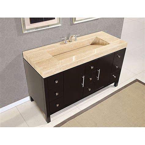 bathroom sink top organizer silkroad 60 inch travertine top bathroom vanity roman