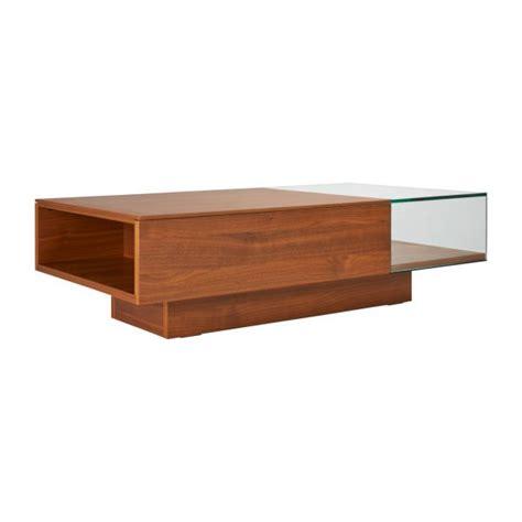 Akira Ii  Table Basse En Verre Et Noyer Habitat