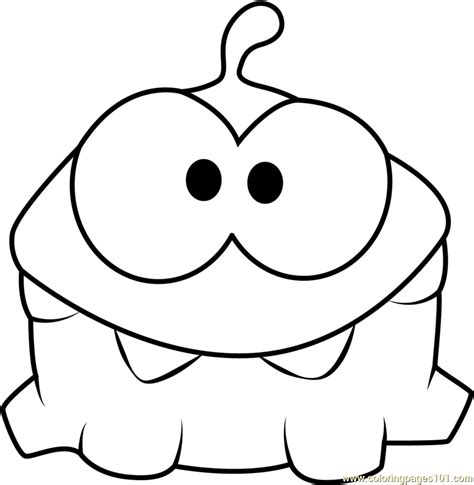 om nom coloring page  cut  rope coloring pages