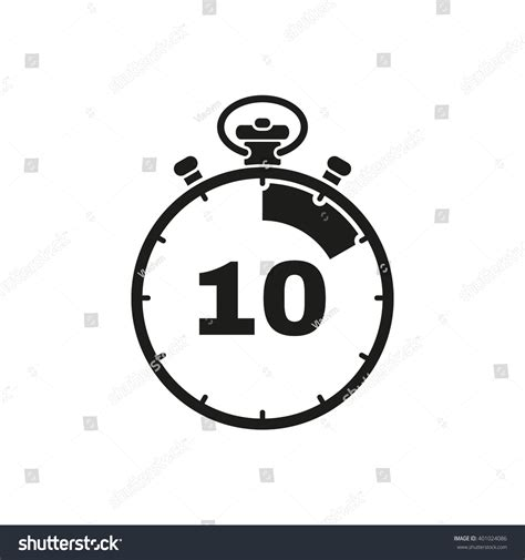 seconds minutes stopwatch icon clock stock vector