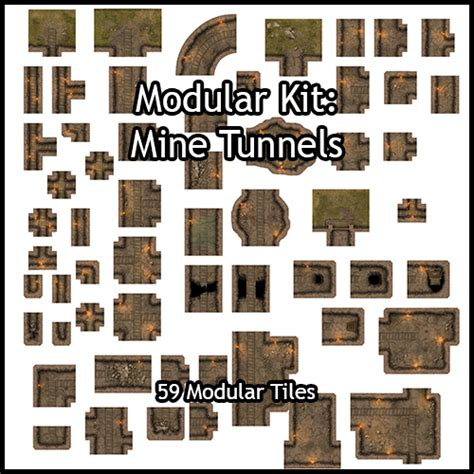 3d Dungeon Tiles Pdf by Heroic Maps Modular Kit Mine Tunnels Heroic Maps