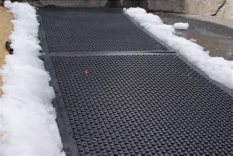 heated sidewalk mat heavy duty heated walkway mats industrial snow melting mats