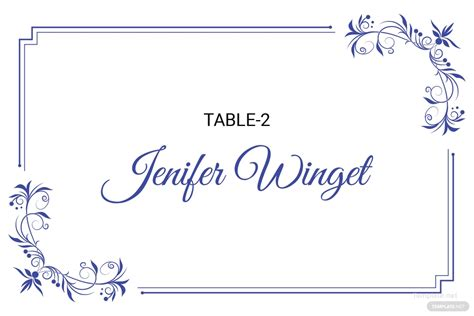 delicate lace place wedding place card template