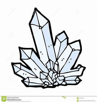 Crystals Cartoon Vector Drawn Hand Simple Illustration