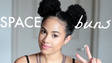 Space Buns On Natural Curly Hair