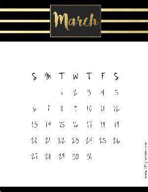 printable march  calendar customize