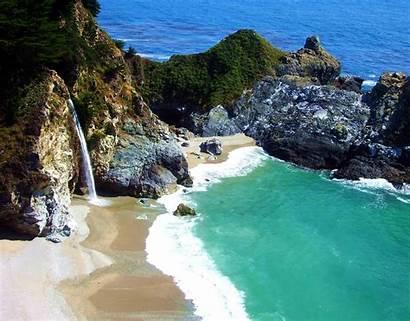 Mcway California Highway Coast Pacific Falls Monterey
