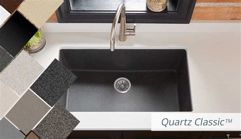 White And Grey Kitchen Ideas - elkay quartz kitchen sinks bold granite colors sleek luxe and classic style