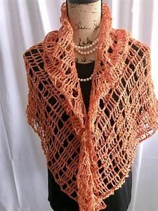 Crochet Shawl  Summer Shawl  Copper Color Shawl  Mothers
