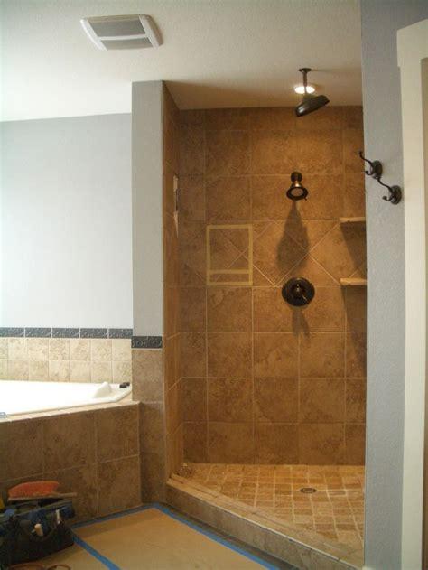 excellent open shower bathroom design ideas home