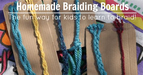 easy homemade braiding board learn   braid  fun