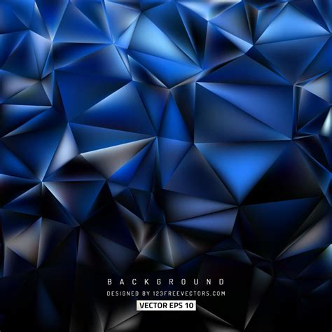 Abstract Black Triangle Background by Abstract Blue Black Polygon Triangle Background