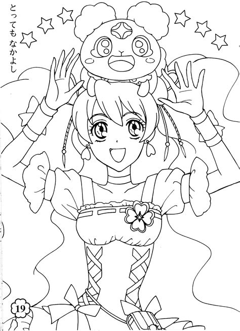 pretty coloring pages free coloring pages of fresh precure