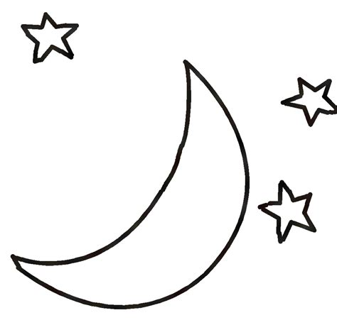 moon clipart black and white black and white moon clipart clipartxtras
