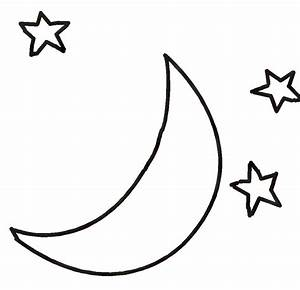 Black & White clipart moon - Pencil and in color black ...