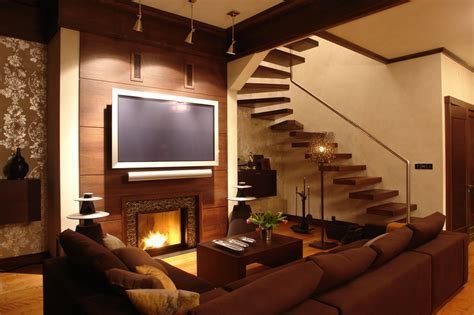33 Living Room Designs with Beautiful Woodwork Throughout