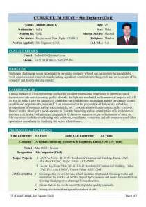 civil site engineer resume pdf professional engineering cv format