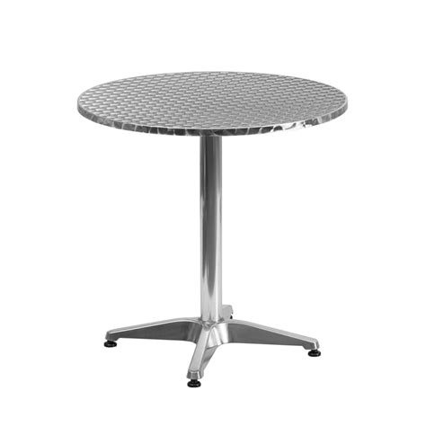 aluminum indoor outdoor table standard height 27
