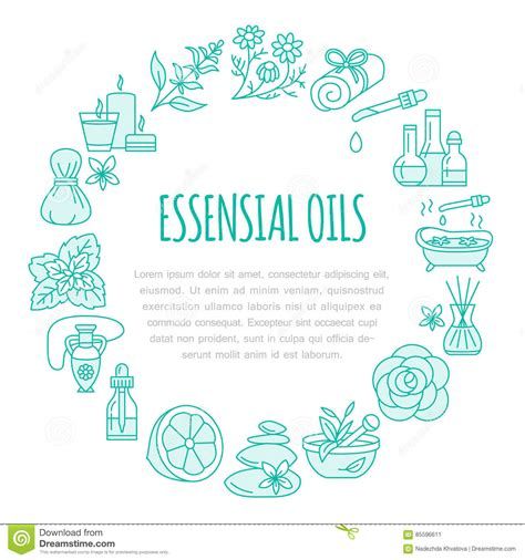 aromatherapy  essential oils brochure template circle
