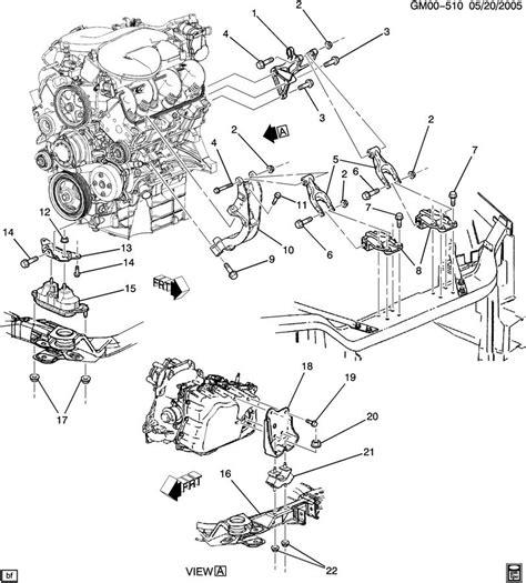 2006 Pontiac Montana Engine Diagram by Pontiac Montana Engine Transaxle Mounting