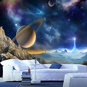 Custom 3D Mural Wallpaper For Wall Outer Space Planet ...