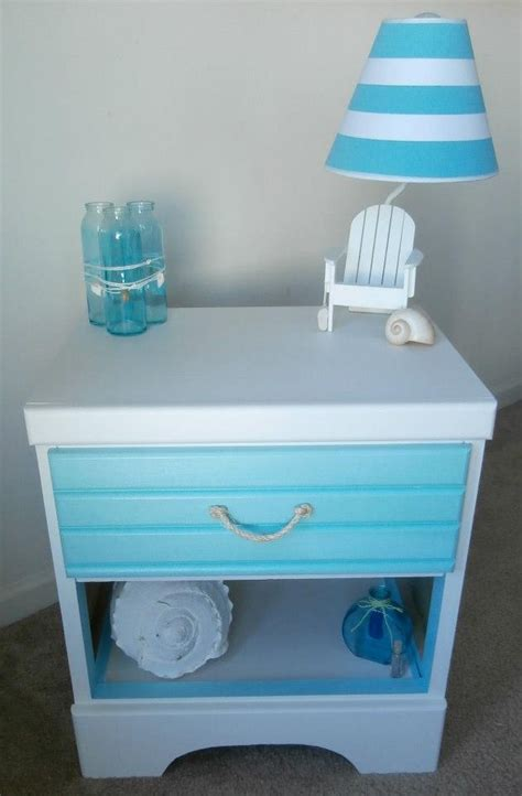 beach themed bedside tables furniture beachy furniture for home design ideas