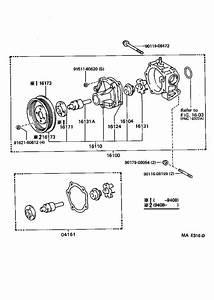 1991 Toyota Tercel Engine Water Pump Gasket