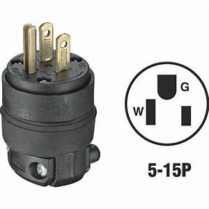 10 Pack Black 3 Wire Male Electrical Cord Plug Extention