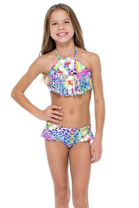 guajira superstar   ruffle high neck top bikini