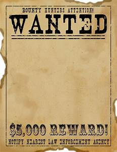 Free scrapbook graphics wild west wanted poster free ephemera pinterest digital for Old west wanted poster template