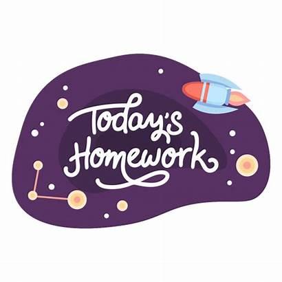 Homework Today Icon Space Sticker Hoy Transparent
